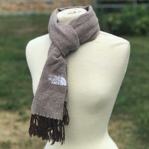 The North Face Brown Herringbone Scarf